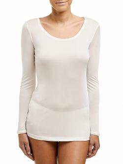 Silk Jersey Long Sleeve Top