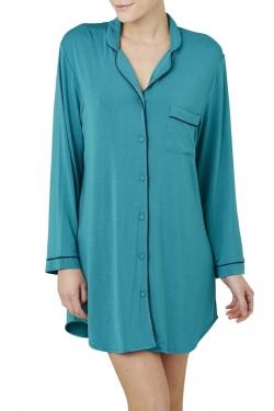 Piped Modal Night Shirt