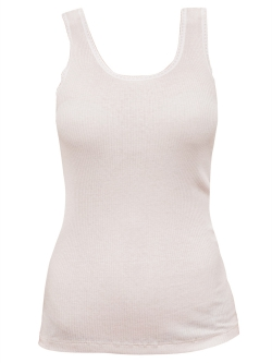 Ribbed Silk Cotton Tank
