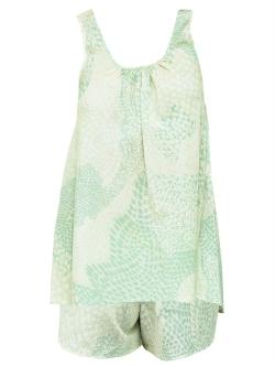 Soft Silk Print PJ Short Set