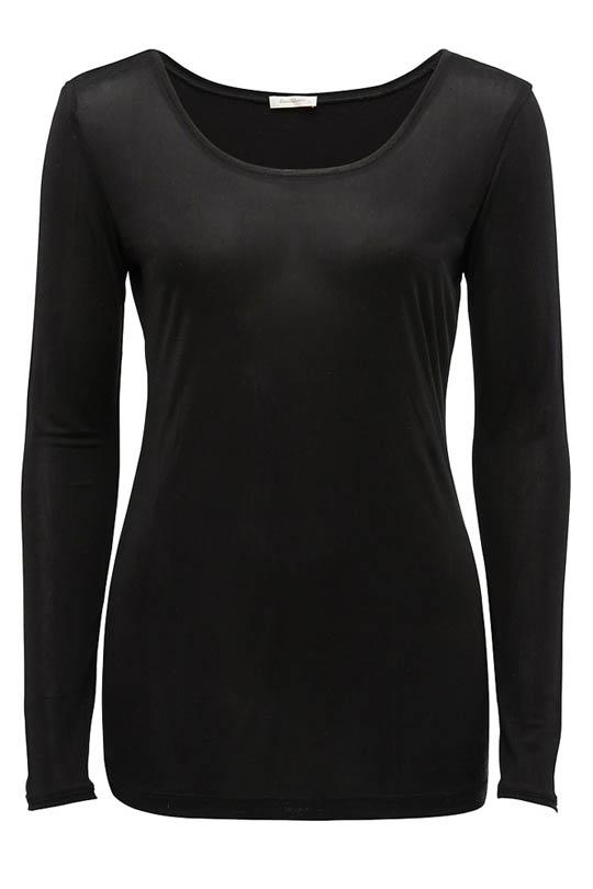 Silk Jersey Long Sleeve Top