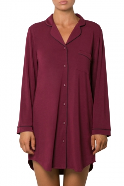 Piped Modal Night Shirt