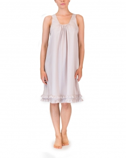Light Cotton Silk Frilled Nightdress