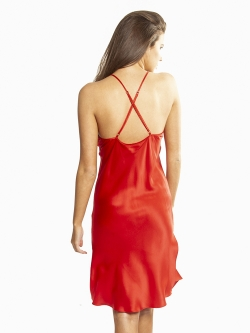 Valentine's Day Silk Chemise