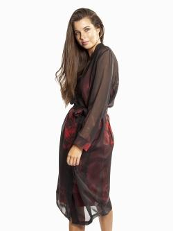 Silk Chiffon Robe