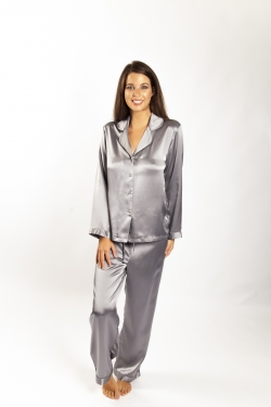 Beautiful Silk Piped PJ Set
