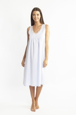 Cotton Spot Built Up Shoulder Nightdress LL863